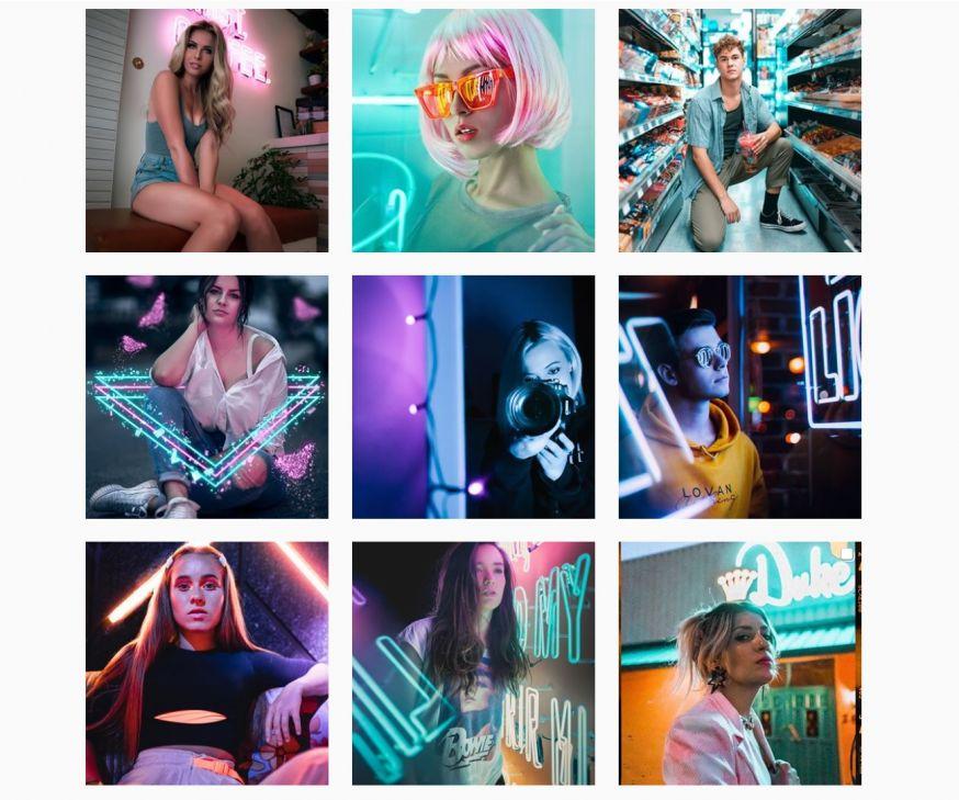 neon portretten youtube tutorial